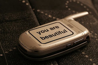 you are beautiful sticker on phone
