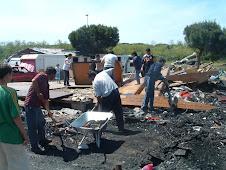 distruzione campo rom