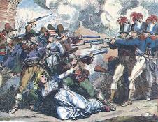 scontro a fuoco nel sud occupato dai piemontesi