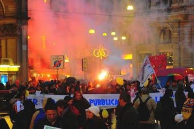 corteo milano ©La Repubblica