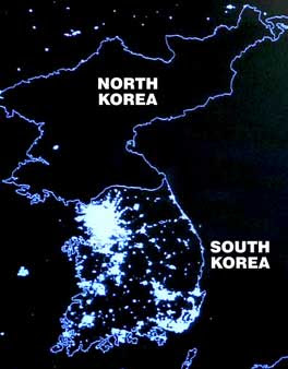 Noth Korea lights