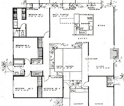 My Prefab Life Another Eichler Floorplan