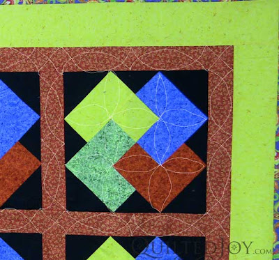 Nonnie's Card Trick Motif in jewel tones