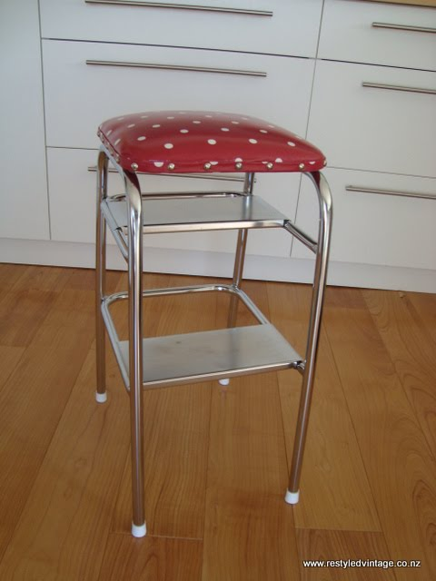 Restyled Vintage Retro Kitchen Step Stool