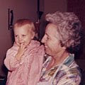 Grandmother Ellington and Carla · circa 1965