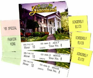 Graceland ticket stubs