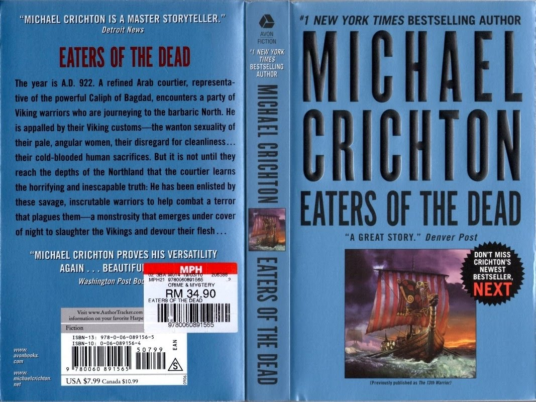 an analysis of the novel eaters of the dead by michael crichton Our analysis of 26,976 reviews for 18 products from michael crichton eaters of the dead by michael crichton unabridged cd a novel from michael crichton.