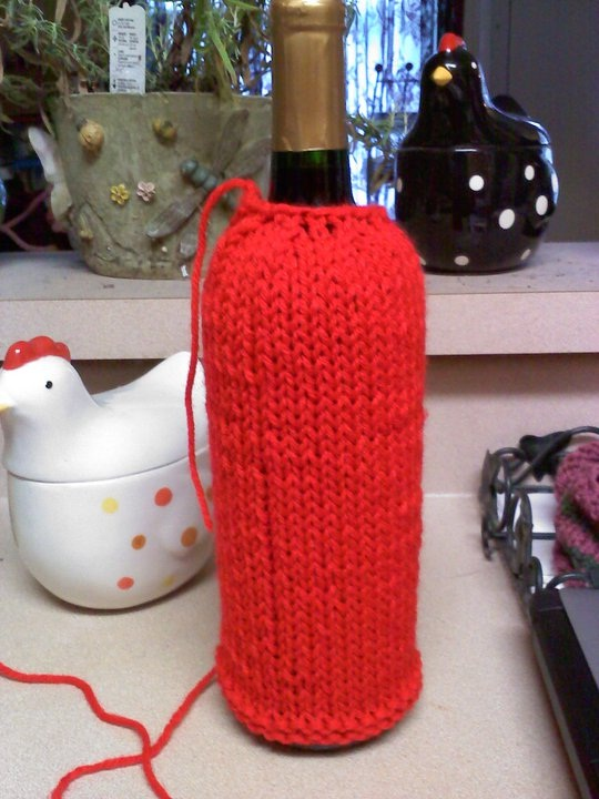 Confessions Of A Knitting Mama Basic Wine Bottle Cozy
