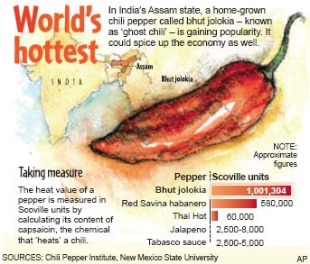 """I-BuzzAbout: """"Ghost chili"""" the world hottest pepper"""