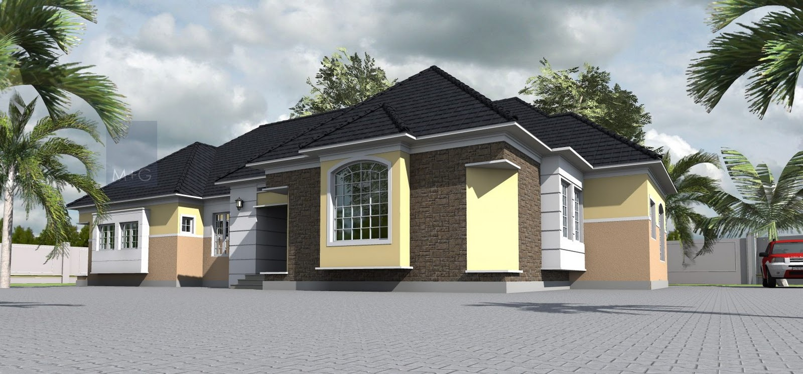 Contemporary nigerian residential architecture 4 bedroom for Modern residential house plans