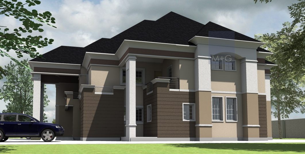 Contemporary nigerian residential architecture 5 bedroom for Modern duplex house designs in nigeria