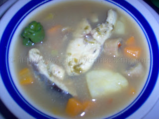 Fish Broth, trini fish broth, how to make fish broth