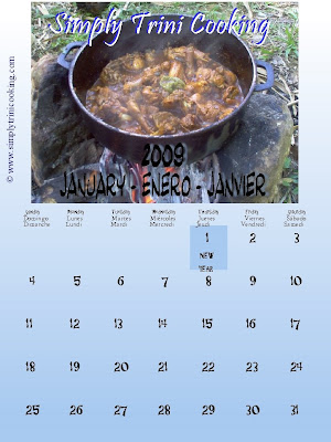 Simply Trini Cooking Calendar 2009