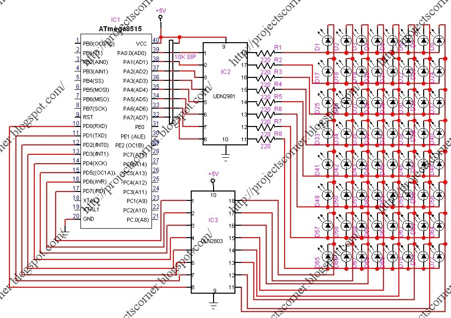 The microcontroller is programmed with Bascom AVR . circuit diagram :-->