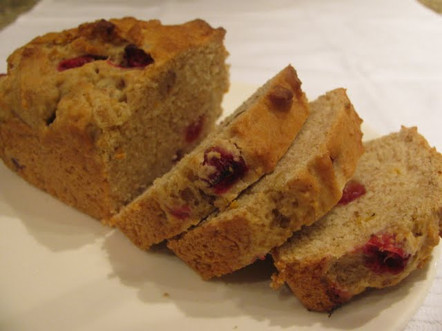 The Yummy Vegan: Cranberry Orange Nut Loaf