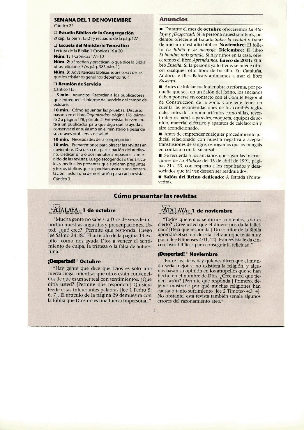 El Lado C  Mico De La Watchtower  26 De Septiembre De 2010