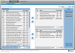 Aldon Agile Manager Release Planning.