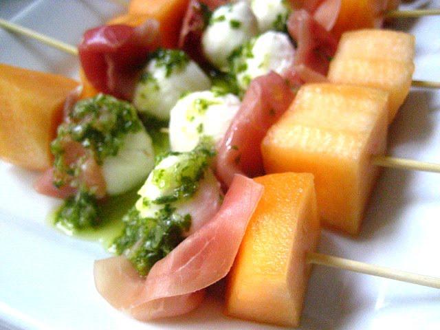 Stacey SnacksRefreshing AppetizerProsciutto w/ Melon  Mozzarella