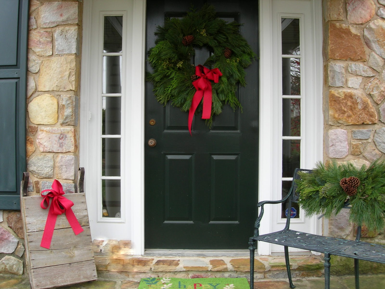 Christmas Decorating Home Front Door Pictures