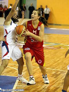 Leonor Rodríguez, con la Selección Española en el Europeo sub16 de Letonia