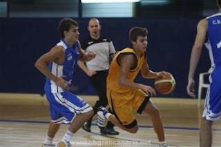 Imagen de Fabio Santana penetrando hacia canasta tomada de la web del CB Gran Canaria