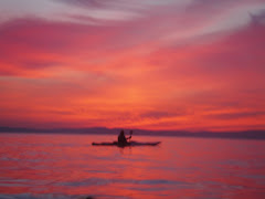 early spring, midweek sunset paddle~