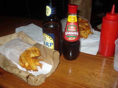 Chips.  Malt Vinegar.  Harp.  Heaven.