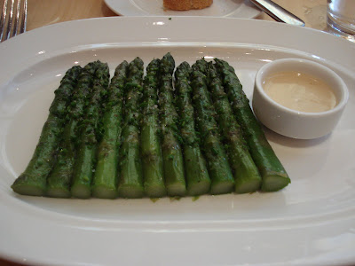 Central: asparagus vinaigrette