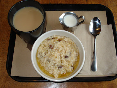 Irish oatmeal and chai at Teaism