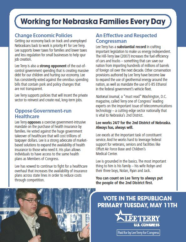 Sample of Campaign Flyers http://leavenworthstreet.blogspot.com/2010/04/vote-early-vote-often.html