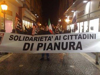 Solidarietà ai cittadini di Pianura