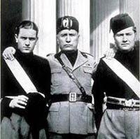 Bruno, Benito & Vittorio Mussolini