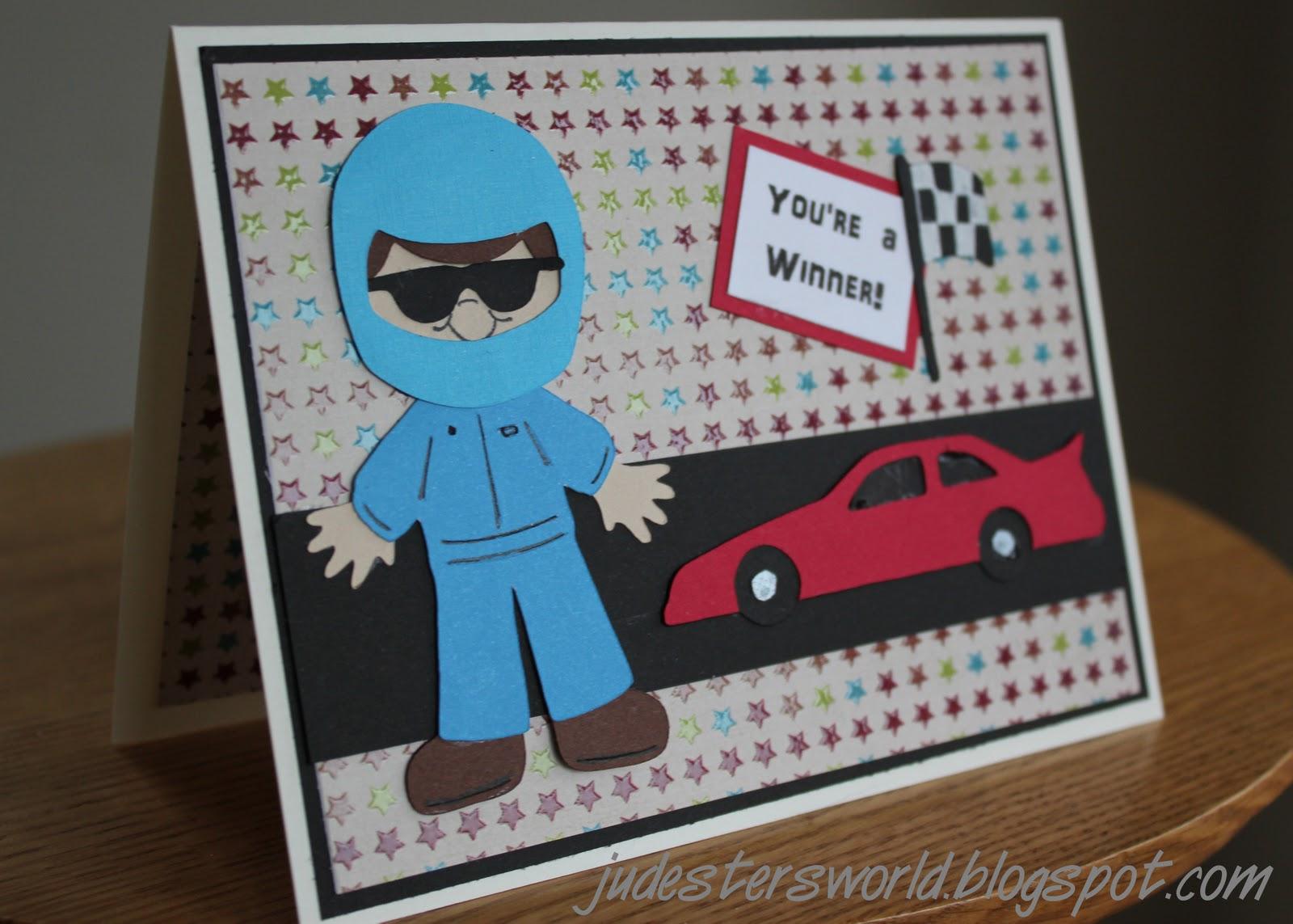 Judesters World Three Birthday Cards – Nascar Birthday Cards