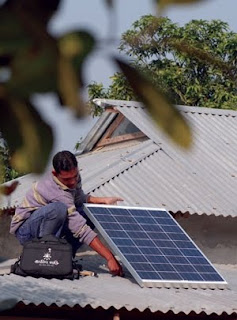 Installation of Solar Home System in Bangladesh