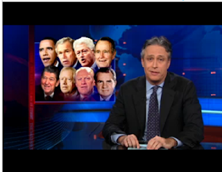Jon Stewart reviews the energy independence promises of the last 8 US presidents
