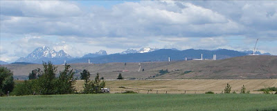 New wind farm construction west of Ellensburg, Washington