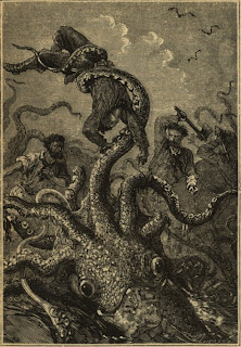 19th century giant squid woodcut