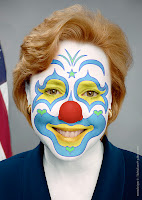 Mary Landrieu in clown costume