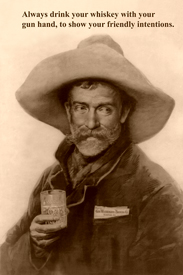 Old West whiskey drinker