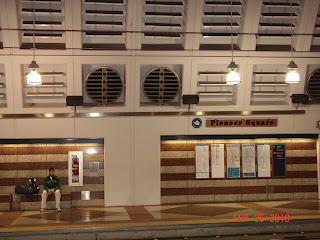 Pioneer Square station in the Seattle Bus Tunnel