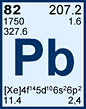 Lead (Pb) 82nd element in the periodic table