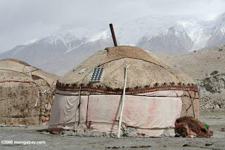 Solar-powered yurt in western China