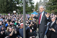 ron paul's message thrills seattle fans
