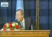 explosion rattles UN chief's iraq news conference