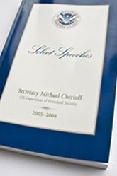 dhs publishes 315-page book honoring chertoff&#8217;s &#8216;select speeches'