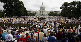 uk press: 2 million march to US capitol to protest obamacare