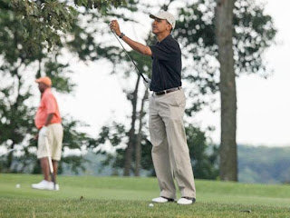 obama already ties bush on golf games played while in office
