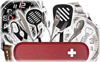 Кухня, нож, часы, швейцарцы
