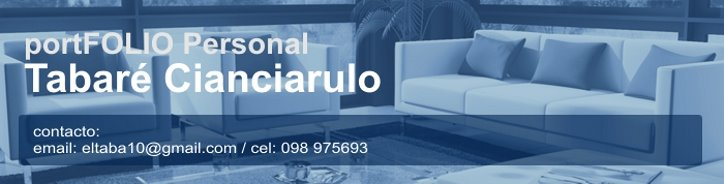 PortFOLIO Personal // Tabaré Cianciarulo