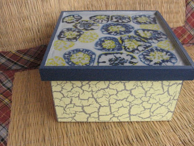 Caixa de Chá em madeira: Técnica mosaico